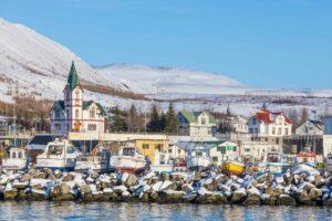 Húsavík að vetri til