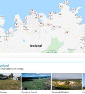 Tjaldsvæði Norðurland