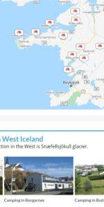 Tjaldsvæði Vesturland